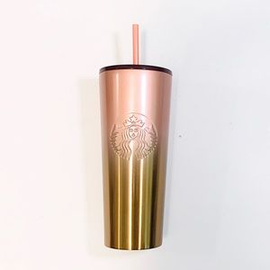 Starbucks rose and gold ombré tumbler